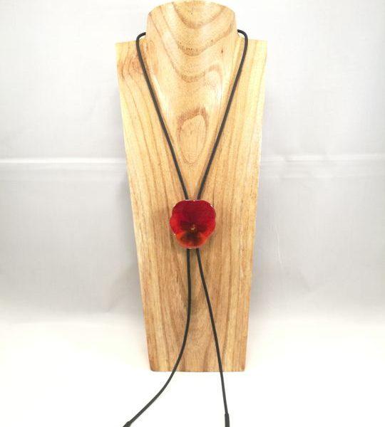 collier-cravate-de-veritable-pensee-rouge-orange-l