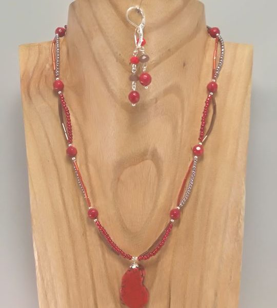 collier-rouge-en-howlite-et-rocailles