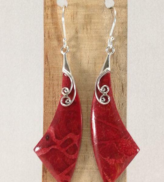 boucles-doreilles-en-corail-et-argent-en-forme-detoile-filante