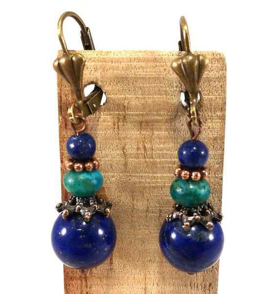boucles-doreilles-bleues-et-turquoises-en-chrysocolle-et-lapis-lazuli-bom67
