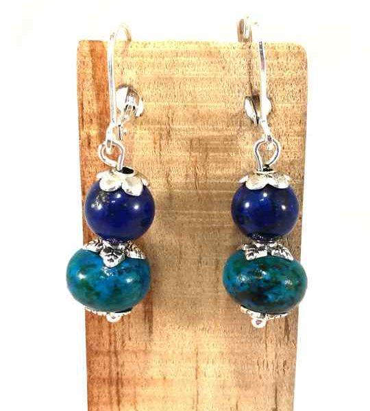 boucles-doreilles-bleues-et-turquoises-en-lapis-lazuli-et-chrysocolle-bom68