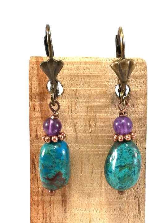 boucles-doreilles-violettes-et-turquoises-en-chrysocolle-et-amethyste-bom82