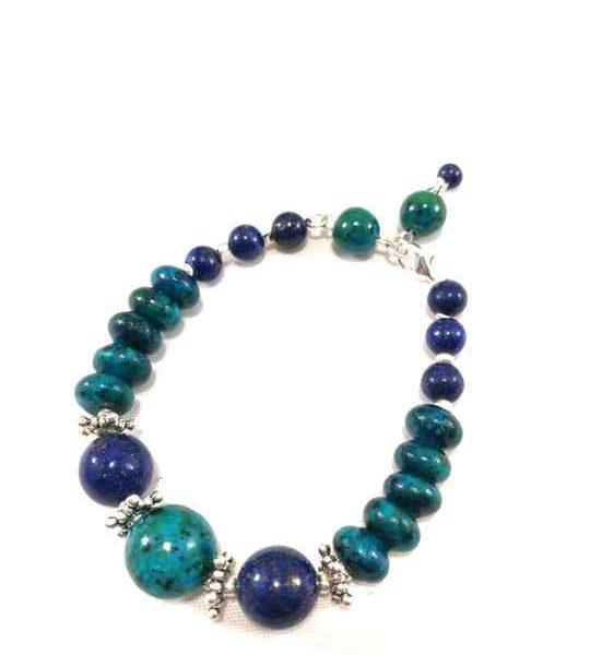 bracelet-turquoise-et-bleu-en-chrysocolle-et-lapis-lazuli-plaque-argent-brtm-24