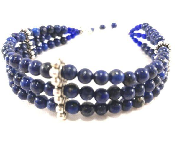 bracelet-trois-rangs-de-perle-de-lapis-lazuli-reglable
