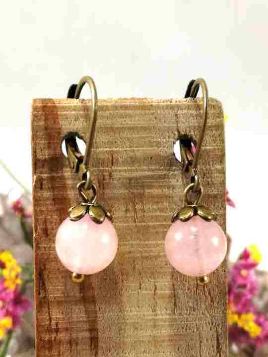 boucles-doreilles-roses-en-quartz-rose