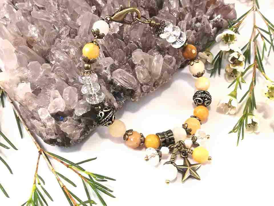 bracelet-jaune-ocre-en-cristal-de-boheme-et-agathe-facettee