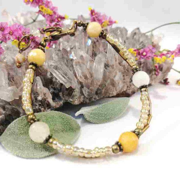bracelet-jaunedore-en-agathe-facette