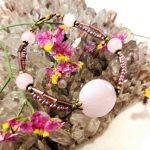 bracelet-turquoise-2rangs-en-quartz-rose-2-les-creations-de-marion