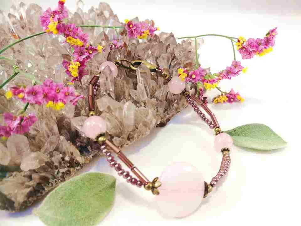 bracelet-turquoise-2rangs-en-quartz-rose