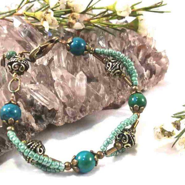 bracelet-turquoise-3rangs-en-chrysocolle