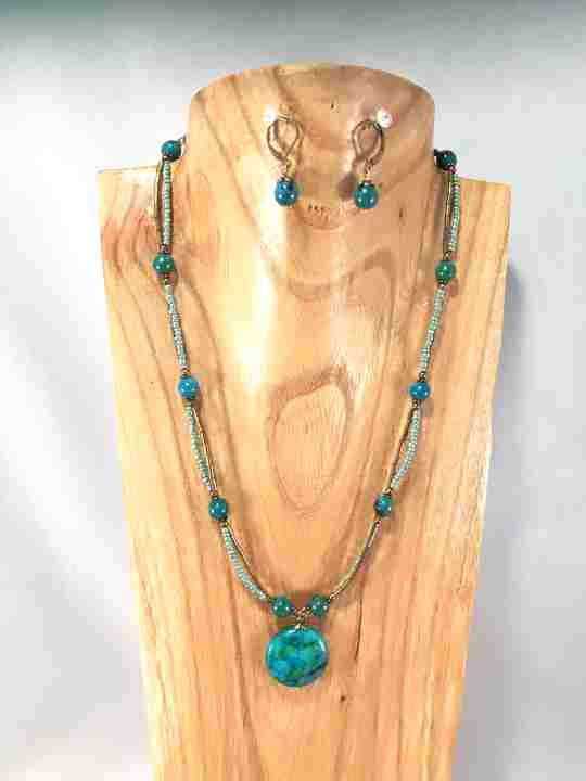 collier-2-rangs-turquoise-en-chrysocolle