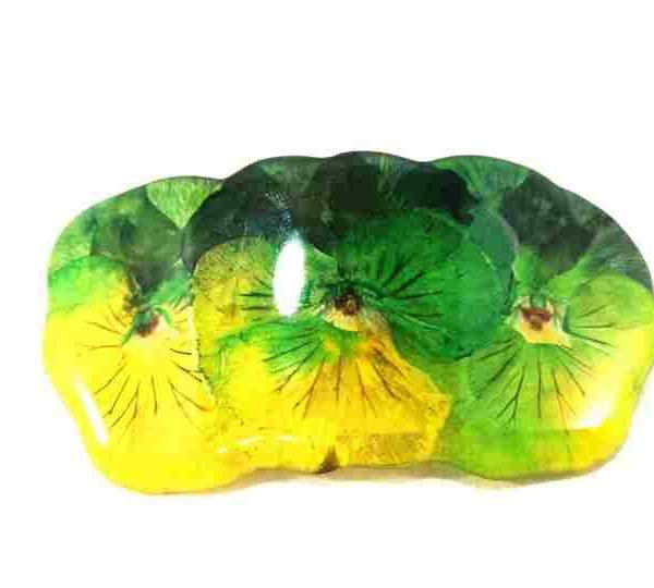 petite-barrette-pensees-jaune-et-verte