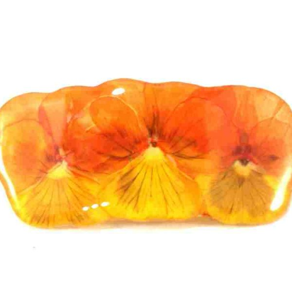 petite-barrette-pensees-orange-jaune