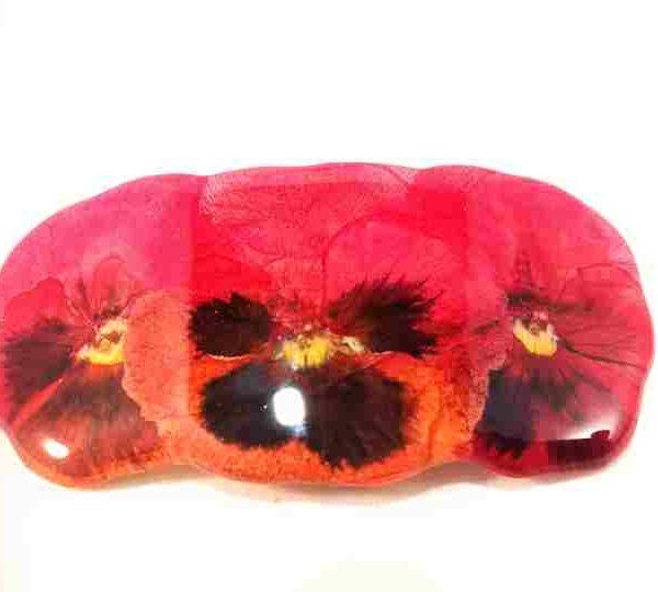 petite-barrette-pensees-rouge-fuchsia-orange