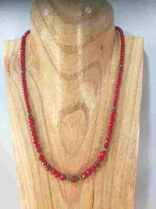 100% authentifié la qualité d'abord profiter du meilleur prix Collier rouge en Corail et Cristal de Bohême - Les Créations de ...